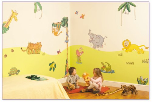 FunToSee Room Makeover Wall Sticker Decal Kit, Jungle Safari