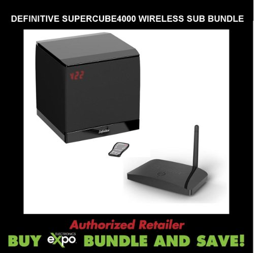 Definitive Technology Sc4000 Subwoofer, Plus Definitive Technology Scw-100 Wireless Subwoofer Connectivity Kit