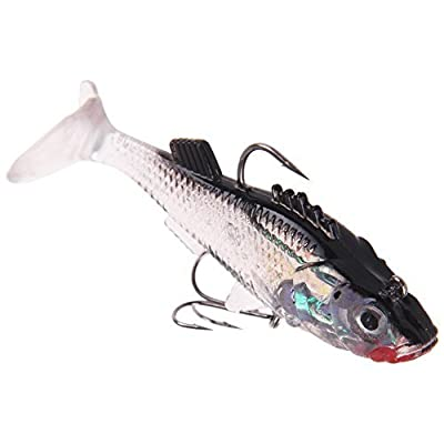Firlar Opsariichthys Fishing Lures,Soft Silicone Fish Tiddler Bait Worm for Bass Trout Shad Bait Crank Swim Bait Tackle Spinner Crank-Bait Lure Sea Fluke Saltwater Bream from Firlar