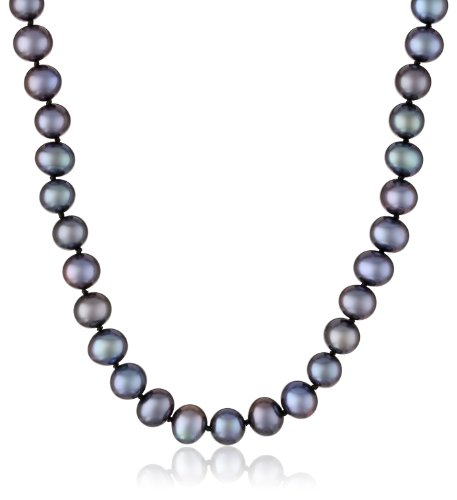 Sterling Silver and A-Quality Freshwater Cultured Pearl Necklace (7.5-8mm)