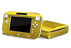 Nintendo Wii U Skin New Brushed Gold System Skins Faceplate Decal Mod