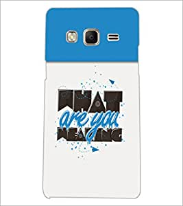 PrintDhaba Quote D-3712 Back Case Cover for SAMSUNG Z3 (Multi-Coloured)