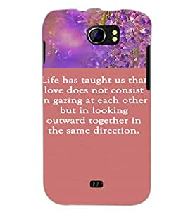 PrintDhaba Quote D-4213 Back Case Cover for MICROMAX A110 CANVAS 2 (Multi-Coloured)