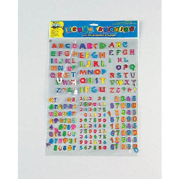 Letters and Numbers Stickers Case Pack 96