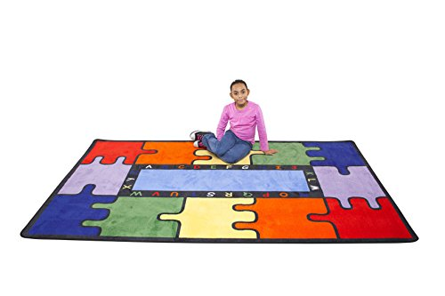 Learning Carpets CPR451 - Abc Puzzle Rectangle, Large