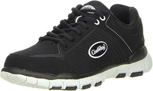 ConWay Damen Herren Trekkingschuhe Outdoorschuhe schwarz, Größe:38;Farbe:Schwarz
