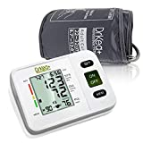 Blood Pressure Monitor Upper Arm - Fully Automatic Blood Pressure Machine Large Cuff Kit - Digital BP Monitor for Adult, Pregnancy - Blood Pressure Kit for Home Use - Batteries, Storage Bag Included (Color: White, Tamaño: Compact)
