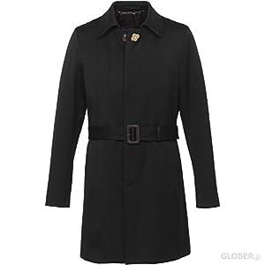 【セール】ラルディーニ(Lardini) ステンカラーコート ウールコットン JH23626 2 ブラック 42 【正規販売店】