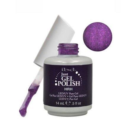 Ibd Just Gel Hrh Soak Off Purple Nail Polish Uv Manicure .5 Oz Salon Royal Led