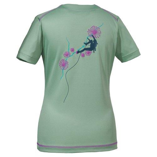 Jack Wolfskin Damen Shirt Coolmax Print T Women, Opal Green, XXL, 1802371-4028006