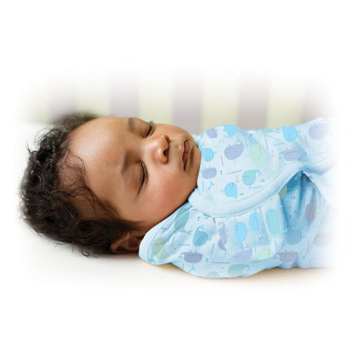Swaddleme Swaddle Blanket - Helps Keep Babies Sleeping Safely - 0-3 Months (Whale Tale)