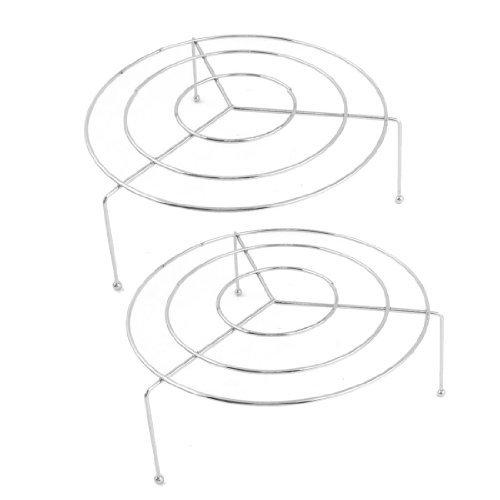 "Haushaltsartikel Metall silbrig Three Legs 4.7 ""Dia Dampfgarer-Rack 2 Stück"