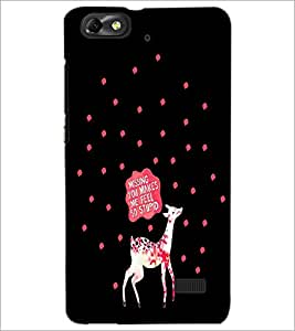 PrintDhaba Quote D-4257 Back Case Cover for HUAWEI HONOR 4C (Multi-Coloured)