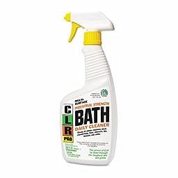 CLR PRO Bath Daily Cleaner, Light Lavender Scent, 32 oz. Spray Bottle - Includes six per case.