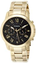 Fossil FS4815 Grant Chronograph Stainless Steel Watch Gold-Tone
