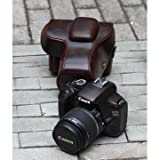 Dslr Camera Case for Canon EOS Rebel T2 T2i T3 18-55 IS /Canon 1000D 1100D 550D 500D 18-55 IS Dark Brown