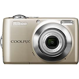 Nikon Coolpix L24 Compact Digital Camera (Silver)