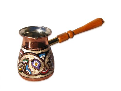 Decorated Turkish Coffee Pot - Slavic Style 16 oz