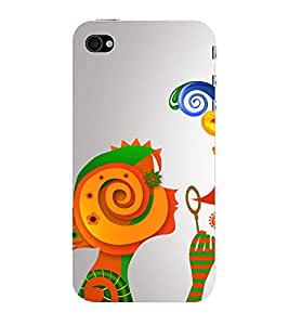 ifasho Animated Pattern BEAUTY Back Case Cover for Apple iPhone 4