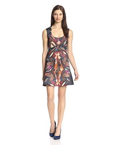 Nicole Miller Women's Tail Feather Print Dress