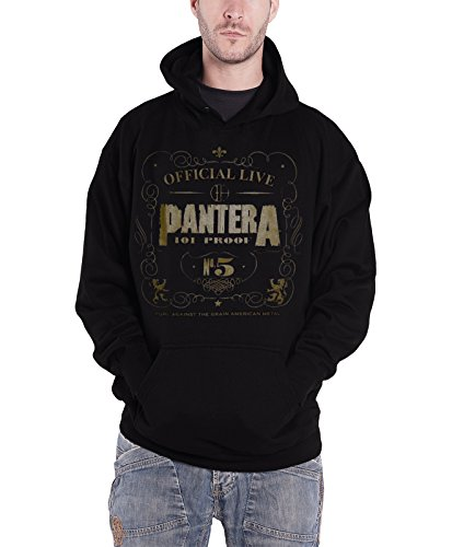 Pantera -  Felpa con cappuccio  - Maniche lunghe  - Uomo nero Medium