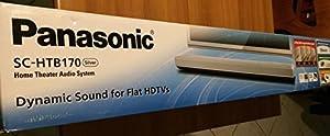 Panasonic SC-HTB170EGS Lautsprechersystem (120 Watt RMS, Bluetooth, HDMI (ARC) mit Viera Link mit TV Fernbedienung steuerbar) silber