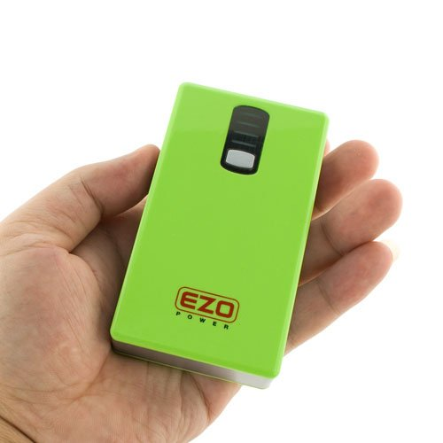 EZOPower Ultra Compact High Capacity 6600mAh 2-Port External Backup Battery Charger / Power Bank For Verizon Motorola Droid RAZR M, Samsung Galaxy Stellar, LG Intuition, Pantech Marauder and Other Android Cell Phone, Window Smartphone, Blackberry, MP3 Playert, ebook, Tablet and more – Green