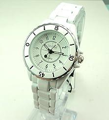 buy Sunshine Day Luxury Sinobi High Quality White Band Watch Women Ladies Fashion Dress Wrist Watch Ac002