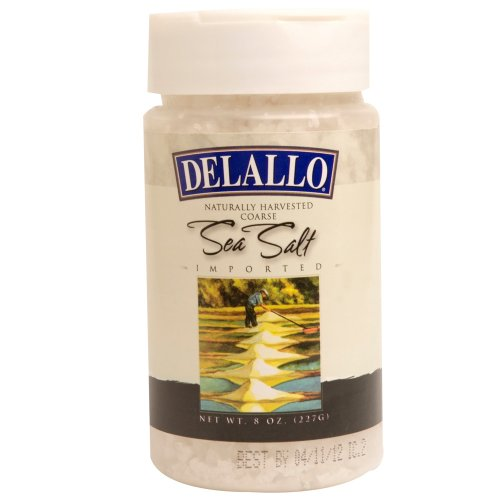 DeLallo Natural Sea Salt Coarse, 8-Ounce Units (Pack of 6)