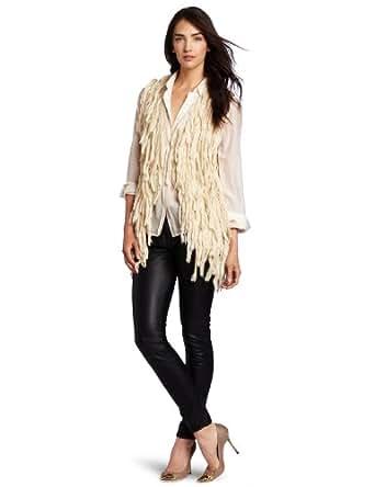 McGinn Women's Alehia Faux Fur Vest, Ivory, Small