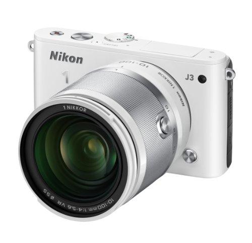 Nikon ミラーレス一眼 Nikon 1 J3 小型10倍ズームキット1 NIKKOR VR 10-100mm f/4-5.6付属 ホワイト N1J310ZKWH