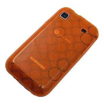 がうがう! docomo GALAXY S SC-02B / SAMSUNG GT-I9000 Clear Soft Case Circle Pattern, Clear Orange 「docomo GALAXY S SC-02B / SAMSUNG GT-I9000」専用 クリアソフトケース サークル・パターン, クリアー・オレンジ SGSI9000-CVC-07