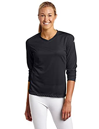 Asics Women's Ready Set Long Sleeve Top, Black, X-Small