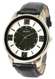 GLuck Analog Black & White designer Dial Mens Watch GSL008G