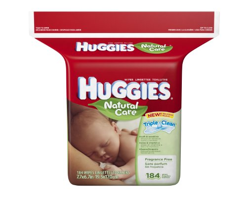 Huggies Natural Care Fragrance Free Baby Wipes,
