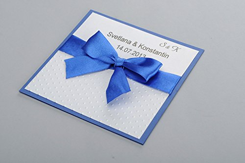 Carton d'invitation de mariage