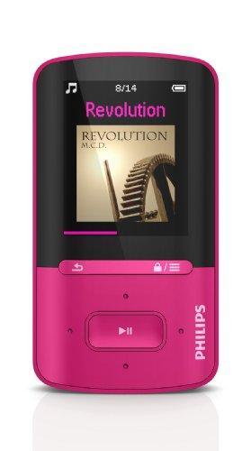 Philips SA4VBE04KN Lettore MP4 GoGear Vibe da 4 GB, Rosa