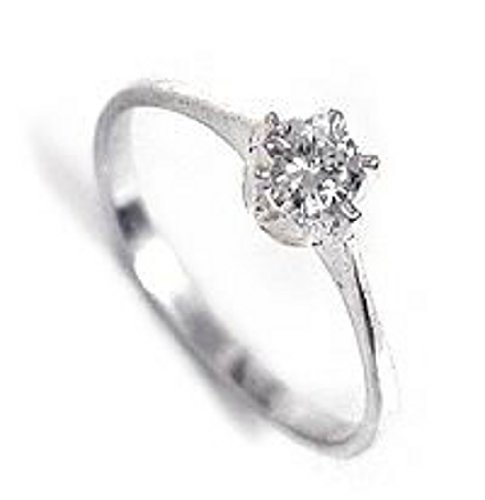 Engagement Sterling Silver Ring  Cubic Zirconias