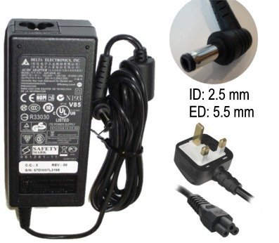 Packard Bell ipower 19v Laptop Ac Adapter Charger