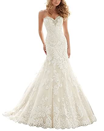 venusdress lace wedding dresses for brides long mermaid With wedding dresses on amazon