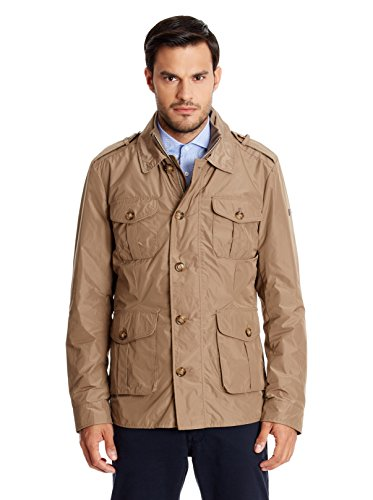 Hackett London Nylon Field Jkt-GIACCA Uomo    verde Medium