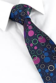 Machine Washable Textured & Embroidered Spotted Tie