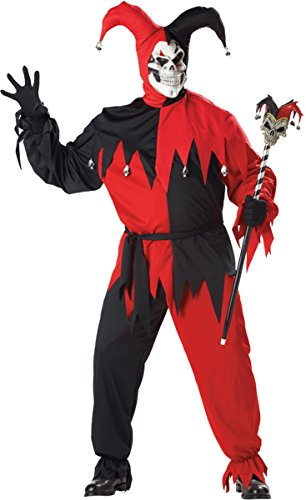 California Costumes Jester Evil Men Plus