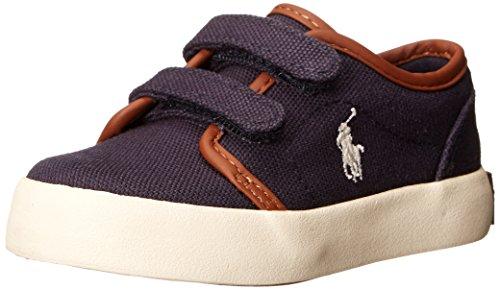 Polo Ralph Lauren Kids Ethan Low EZ Sneaker (Toddler/Big Kid),Navy Canvas,6 M US Toddler