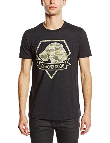 METAL GEAR SOLID - Metal Gear Solid V Diamond Dogs Army Men's T-shirt, Black (tslv0011mgs-m), T-shirt Uomo, Nero (Black), Medium