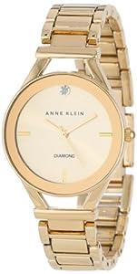 (4.7折)Anne Klein Women's AK/1274CHGB 钻石腕表$34.99,