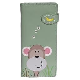 Shagwear Womens Monkey\'s Banana Large Wallet