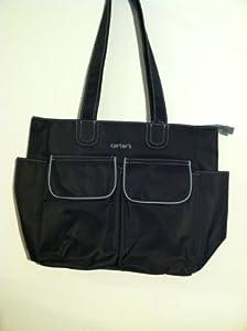 carter 39 s everyday tote diaper bag black and grey baby. Black Bedroom Furniture Sets. Home Design Ideas