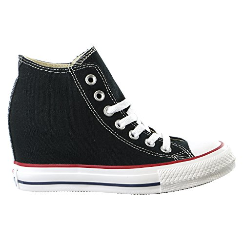 Converse Women's Chuck Taylor Lux Mid Black Casual Shoe 7 Women US