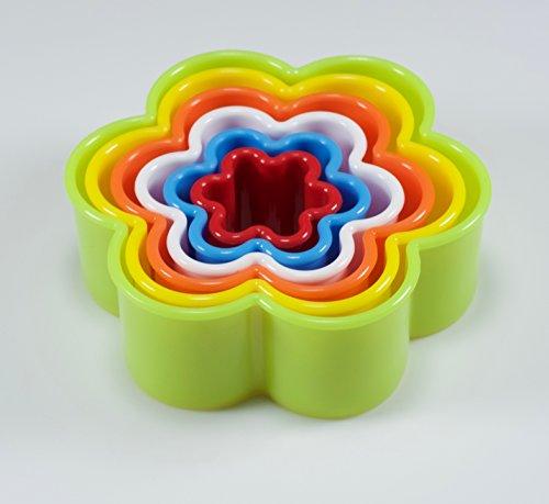 6 emporte pièces fleurs [SANS Bisphénol A] (BPA) - Résistante haute température - Qualité supérieure